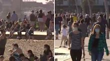 'Idiots': Anger at packed Melbourne beach amid strict lockdown