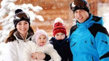 Duke And Duchess Of Cambridge Release Magical Snow-Covered Family Photos