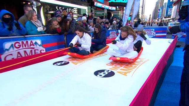 'GMA' Winter Games: Toboggan Race!