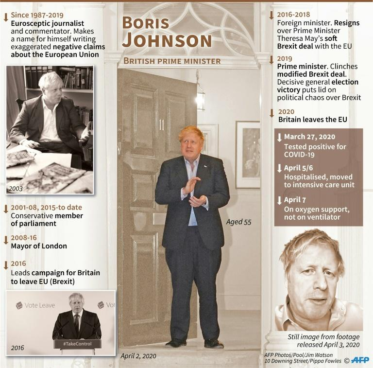 Profile of British Prime Minister Boris Johnson (AFP Photo/Gal ROMA)
