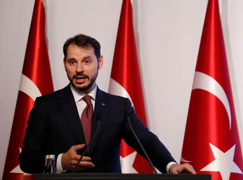 Turkey's Albayrak sees no big risk to economy, but Moody's sounds alarm