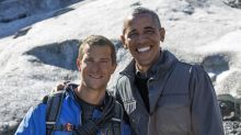 Bear Grylls remembers roughing it with Obama and answers whether Trump would be up for the 'Running Wild' challenge