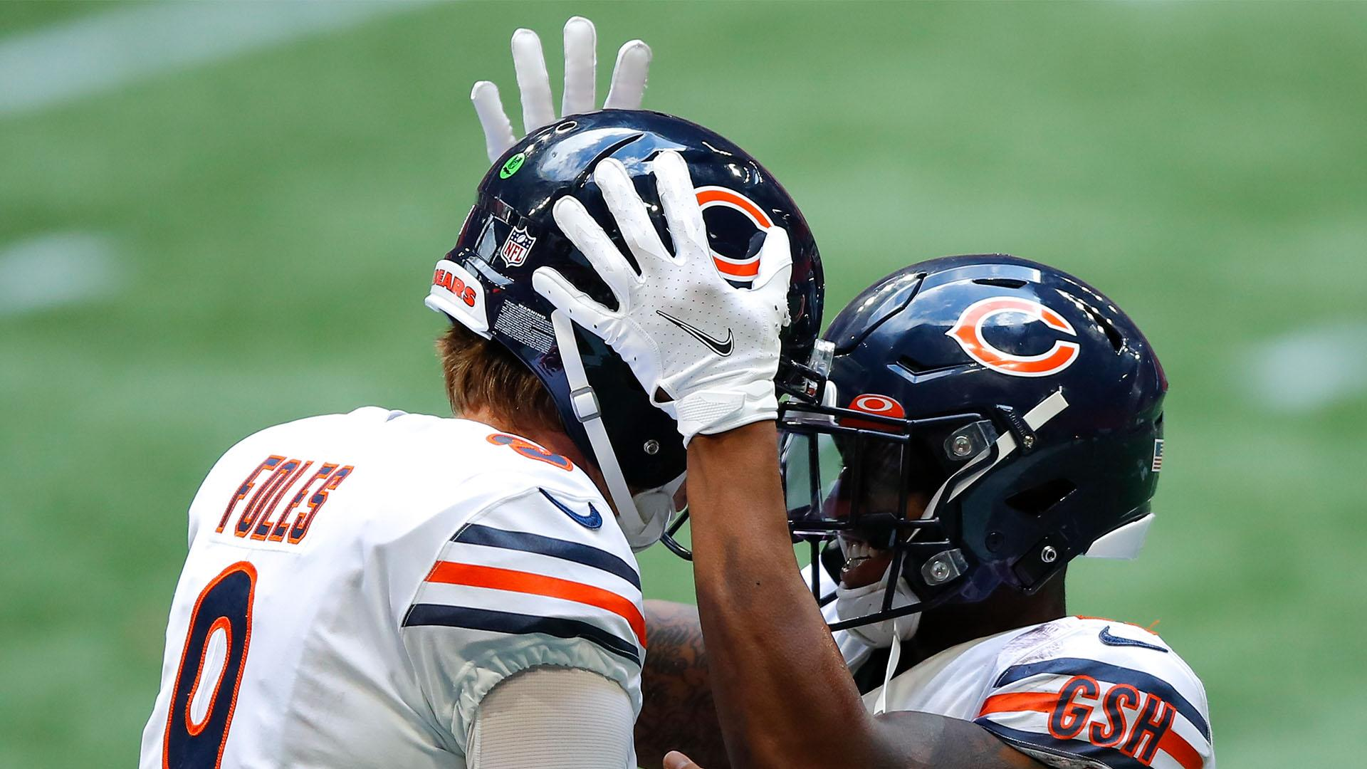 Nick Foles Replaces Mitchell Trubisky Guiding The Bears To Comeback Win Over Atlanta Video