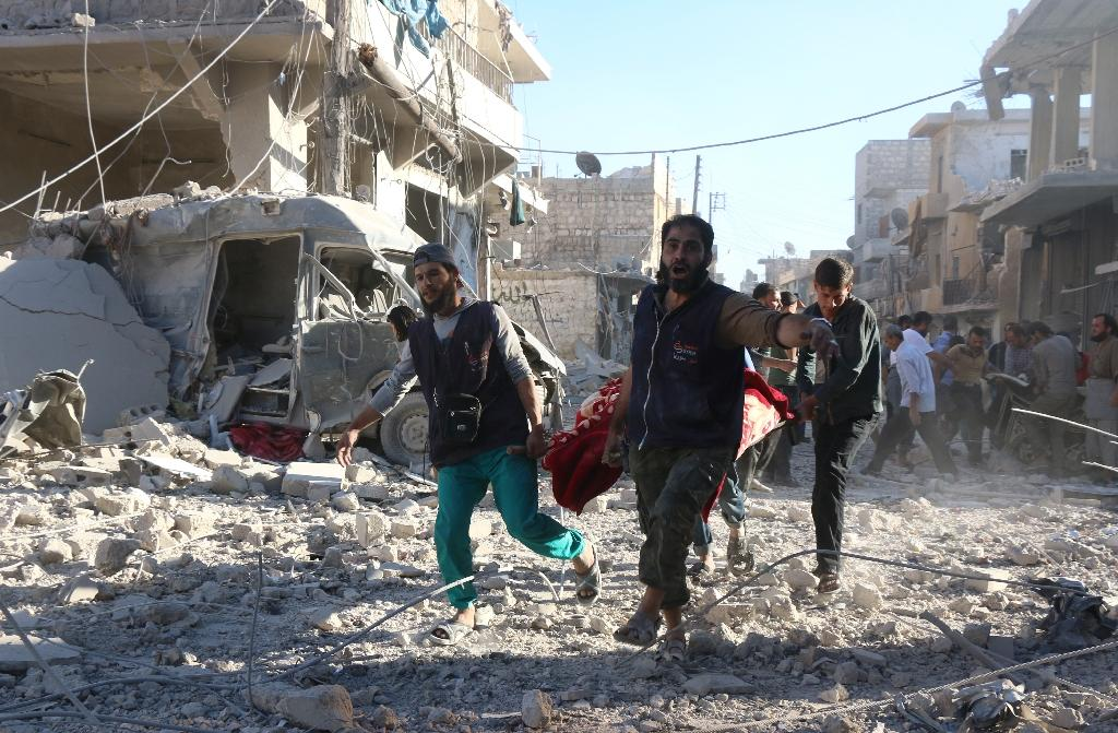 The Syrian Observatory for Human Rights counted 256,124 killed between 2011 and 2015 in that country's civil war (AFP Photo/Thaer Mohammed)