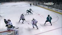 Sharks score two goals in 49 seconds