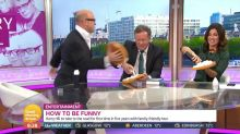 Piers Morgan pied in the face after shaming Daniel Craig for using a baby carrier