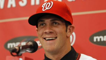 A fresh look: Bryce Harper shaves his beard