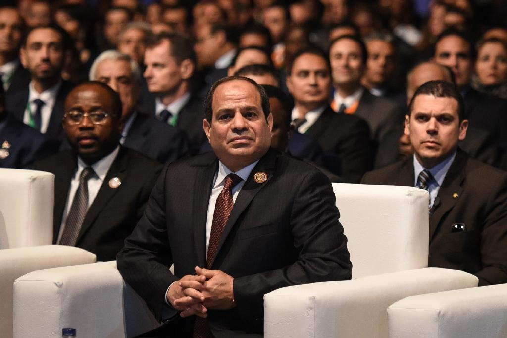 Egypt's President Abdel Fattah al-Sisi attends the Africa 2016 forum on February 20, 2016, in the Red Sea resort of Sharm el-Sheikh (AFP Photo/Mohamed El-Shahed)