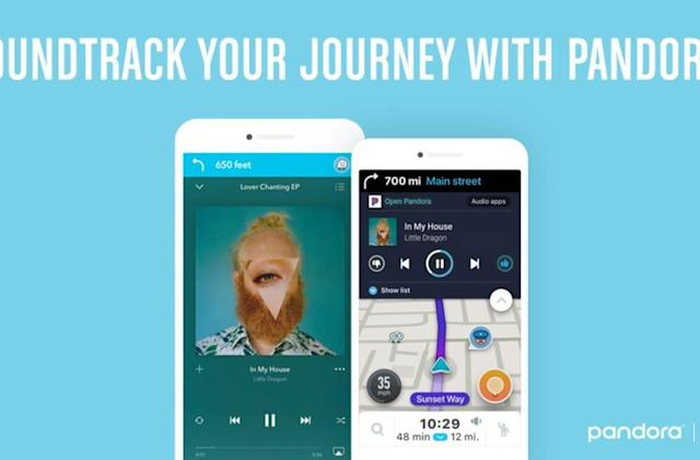 Waze integrates Pandora for seamless road trip tunes