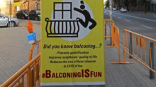 Sick posters mocking British balcony deaths put up by Barcelona anti-tourist campaigners