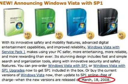 Vista SP1 officially coming tomorrow?