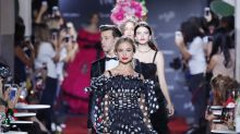 'World's most beautiful child' and Diana's niece walk in Dolce & Gabbana's star-studded fashion show