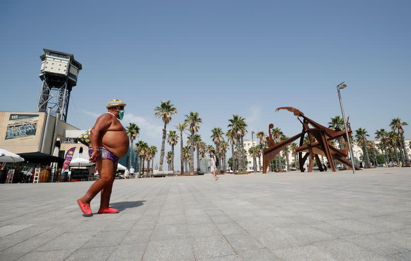 FILE PHOTO: Outbreak of the coronavirus disease (COVID-19), in Barcelona
