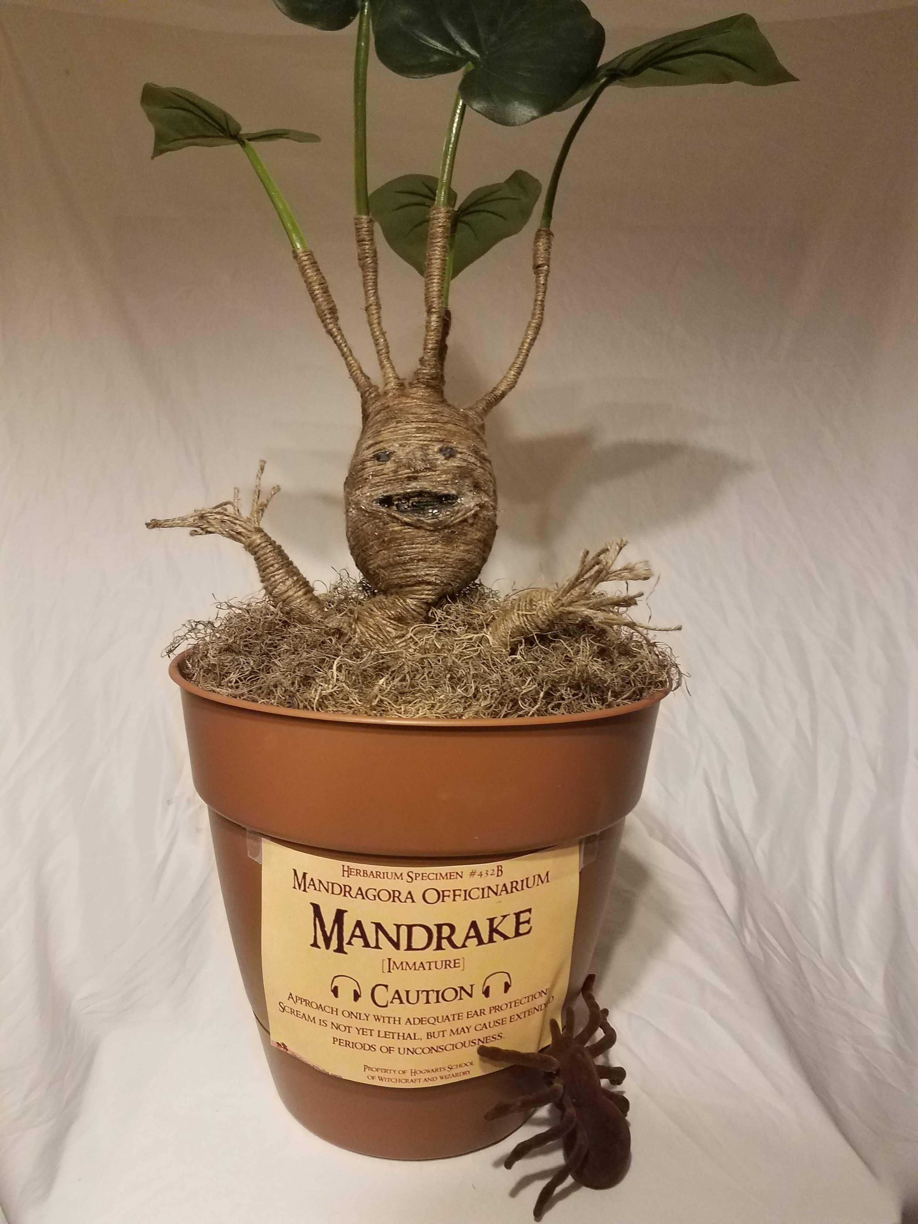 Mandrake Root Inspired by Harry Potter Baby Mandrake Ornament