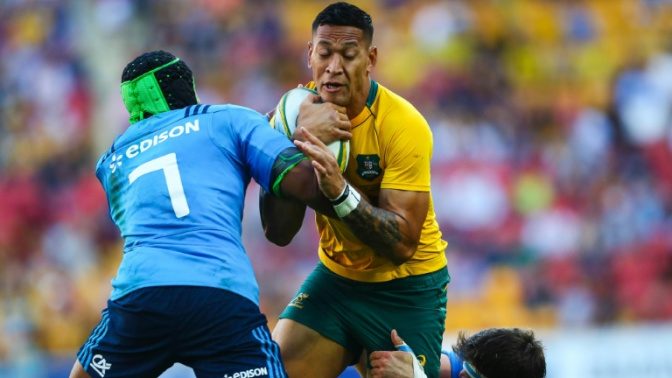 Australia upbeat after seeing off Italy with late tries in Brisbane