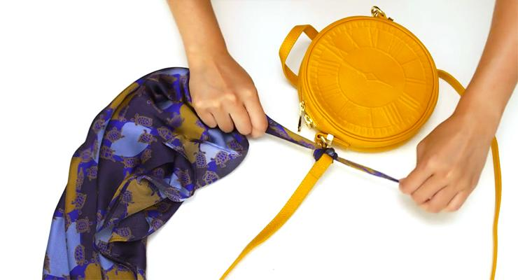 How To Shorten Your Straps On A Crossbody Bag Without Tying It Split Second Styling Tips Video