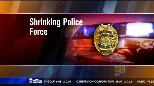 City worried about San Diego's shrinking police force