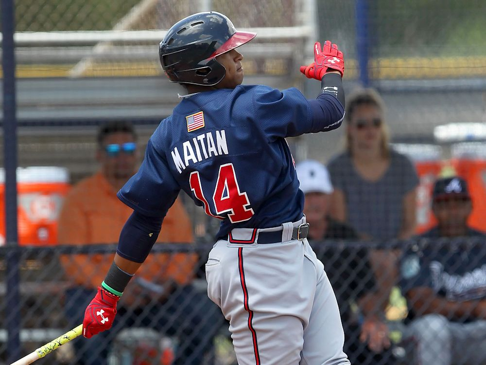 Kevin Maitan, the ex-Braves prospect, has struck a new deal with the Angels after MLB declared him a free agent because of the Braves' rule-skirting. (AP)
