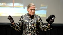 A photo of 85-year-old Ruth Bader Ginsburg planking is going viral after Justice Kennedy's SCOTUS retirement news
