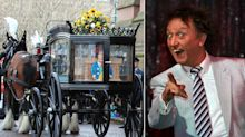 Fans line the streets of Liverpool for Sir Ken Dodd's funeral