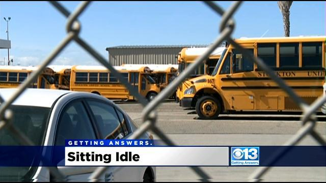 $2 Million In Stockton Buses Sit Idle As District Debates Savings