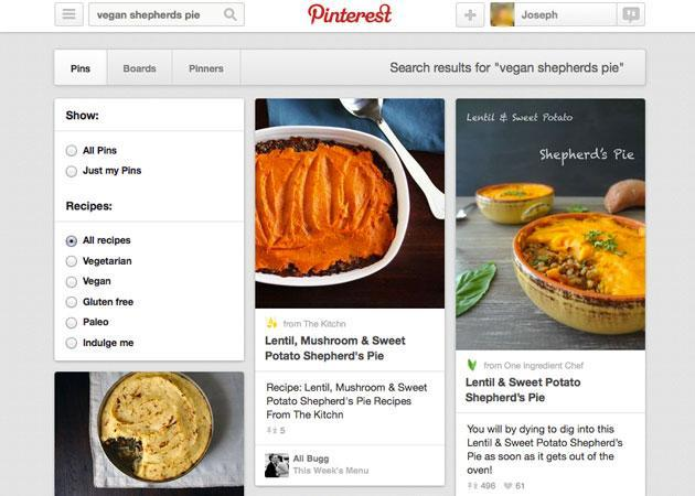 Pinterest recipe search makes the joy of cooking easy to pin down