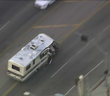Wild Pursuit of RV Through Los Angeles Ends with Crash, Driver in Custody