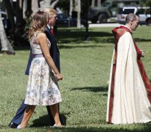 President attends Easter service following slew of tweets