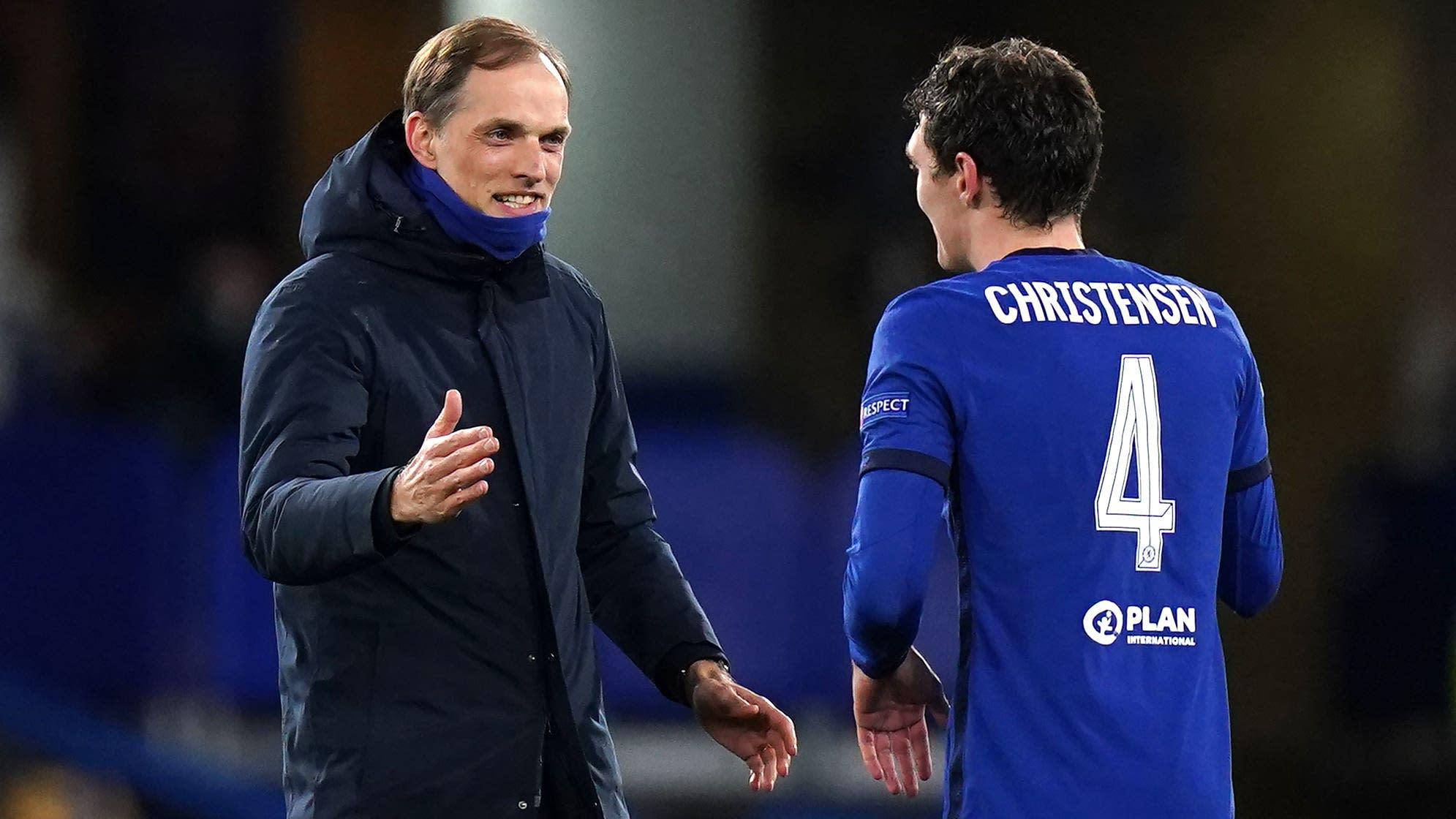 Tuchel celebra con Christensen el pase a la final de la Champions League.