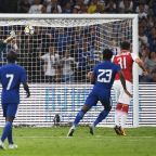Football: Pedro bloodied as Chelsea beat Arsenal 3-0