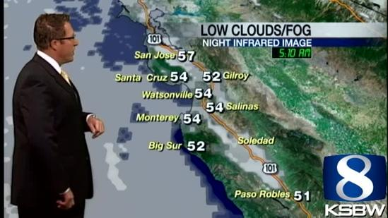 Get Your Monday KSBW Weather Forecast 7.15.13