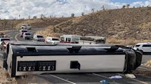 1 Killed, 42 Injured After Tour Bus Rolls on Its Side on Way to Grand Canyon