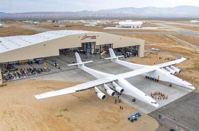 The world's largest aircraft had a successful engine test
