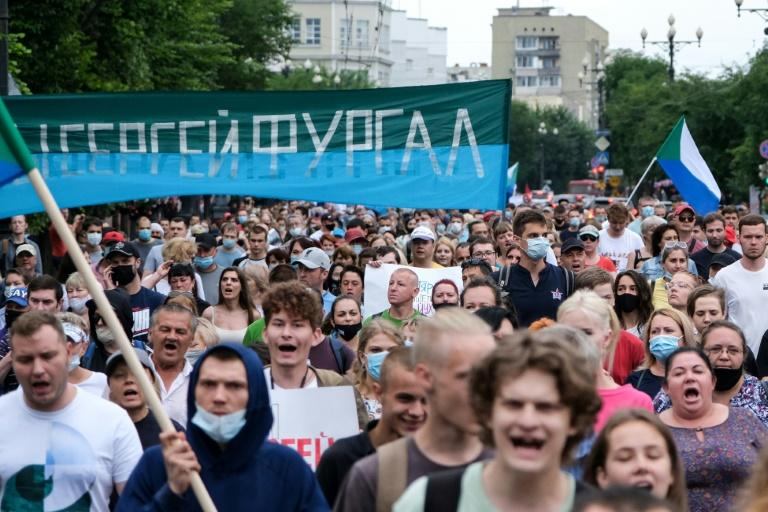 The protest movement against the government is the largest outside of Moscow in several years (AFP Photo/Aleksandr YANYSHEV)