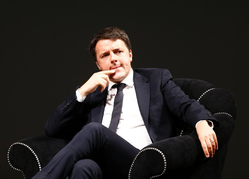 Italian Prime Minister and Democratic Party leader Matteo Renzi on May 30, 2015 in Trento (AFP Photo/Pierre Teyssot)