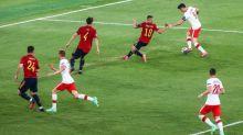 Foot - Euro - POL - Le but de l'égalisation de Robert Lewandowski lors d'Espagne-Pologne en vidéo