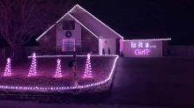 Oklahoma Couple Use Christmas Lights Display for Gender Reveal