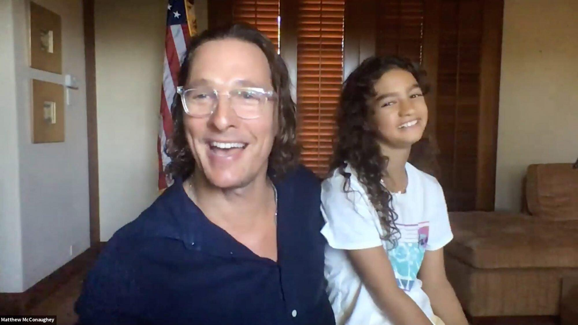 Matthew Mcconaughey S Daughter Vida 10 Adorably Joins His Interview And Dishes On Dad