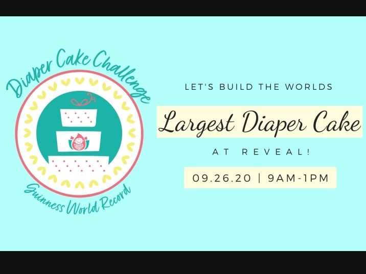 Diaper Cake Challenge - Guinness World Record, Saturday, Sept. 26 from 9 a.m. - 1 p.m.