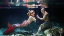 This Guy Proposed To His Mermaid-Obsessed Girlfriend Underwater
