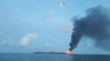 Oil barge explosion off Texas kills one, fire now out