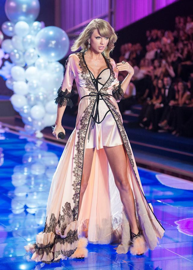 Taylor Swift performed at the 2014 Victoria's Secret Fashion Show. (Photo: Getty Images)