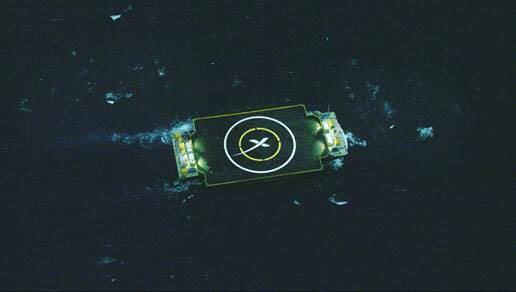 """SpaceX's Falcon 9 rocket first stage attempted to land on this ocean platform, which the company has called an """"autonomous drone spaceport ship,"""" in the Atlantic Ocean after a successful Dragon cargo ship launch for NASA on Jan. 10, 2015."""