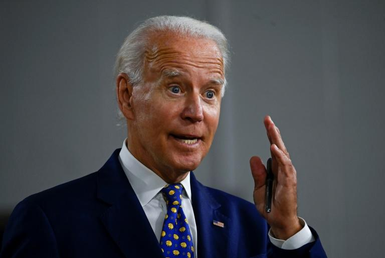 Democratic presidential candidate and former vice president Joe Biden blamed President Donald Trump for the severe economic crisis (AFP Photo/ANDREW CABALLERO-REYNOLDS)