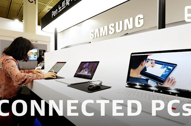 Microsoft, Samsung and Qualcomm talk connected PCs in 2019