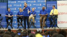 BBVA Compass gives McAllen ISD students lesson in financial literacy, with assist from basketball legends Bob Lanier, Allison Feaster