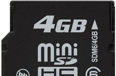 Kingston offers up 4GB Class 6 miniSDHC cards
