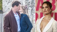 Dominic West kisses wife after shock snaps with Lily James