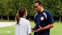 Jennifer Lopez Hilariously Trolled A-Rod's Softball Skills During Their Family Game This Week