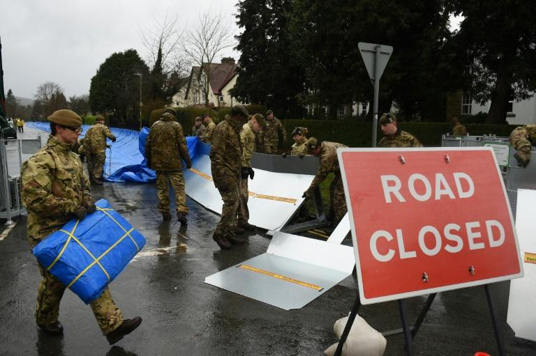 Troops have been deployed in West Yorkshire, northern England, which suffered badly from flooding caused by last weekend's Storm Ciara (AFP Photo/Oli SCARFF )